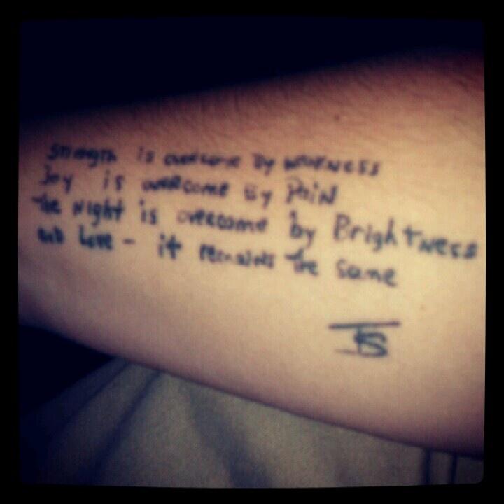 Tattoo Quotes And Poems Quotesgram: Poem Tattoo Images & Designs