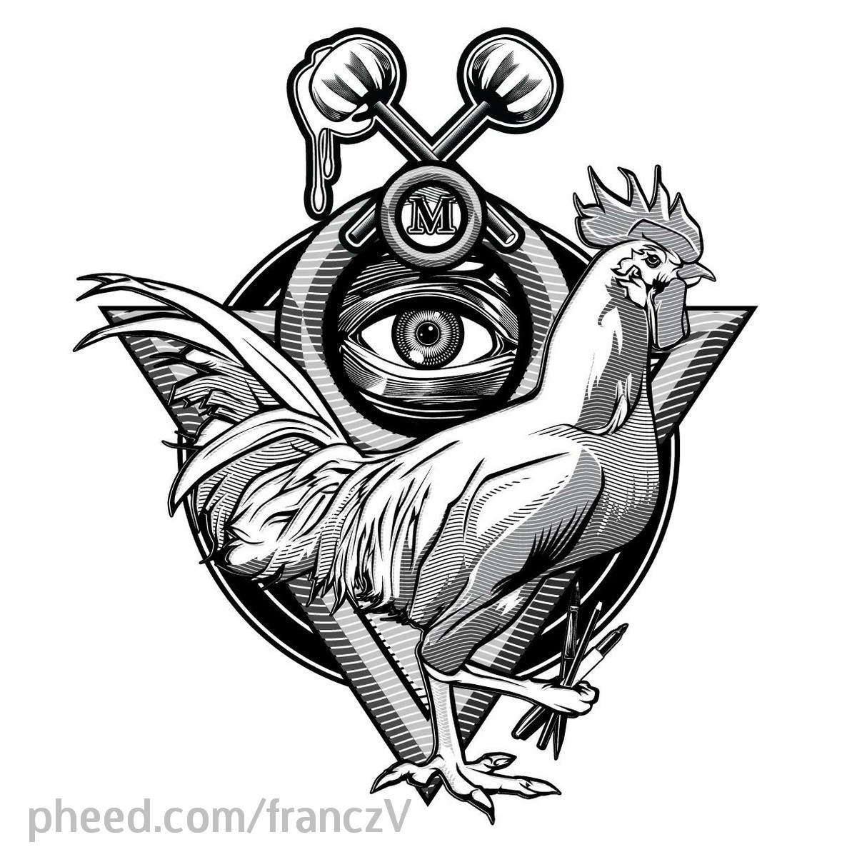 Fighting Rooster Tattoo Designs And rooster tattoo designFighting Rooster Design
