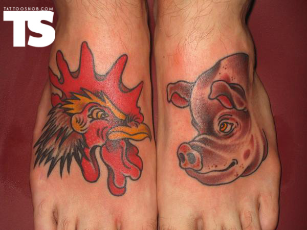 Rooster Tattoo Images & Designs