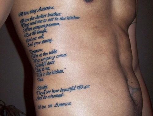 Rib Side Poem Tattoos For Men
