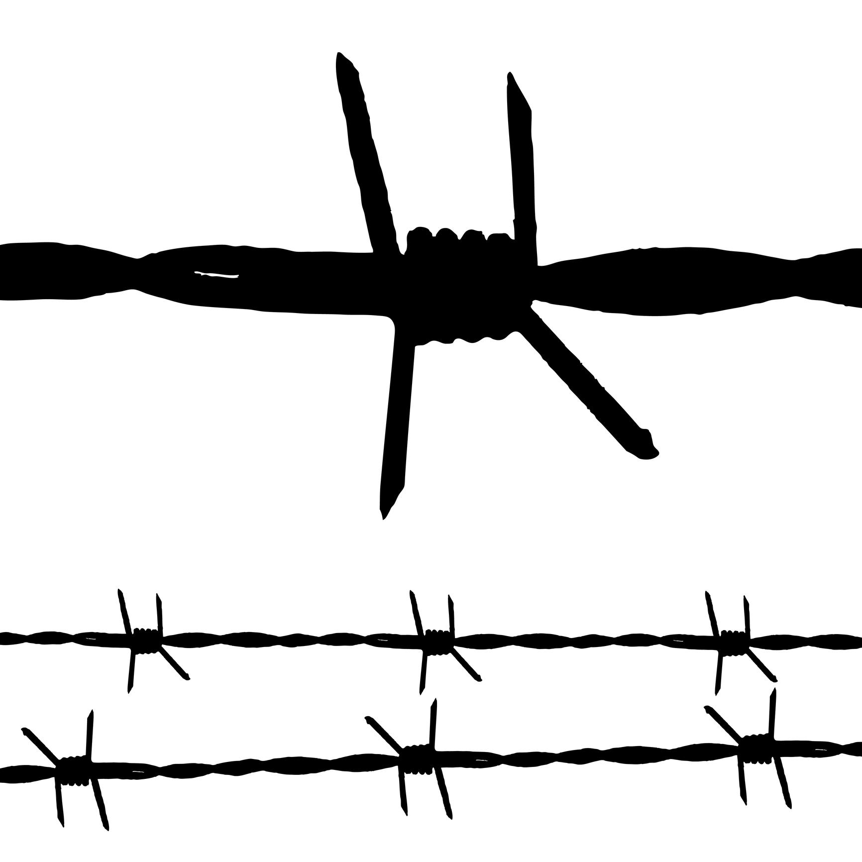 Black Ink Barbed Wire Tattoo Design