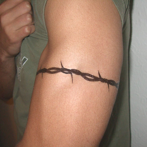 Barbed wire tattoo images designs for Barbed wire tattoo