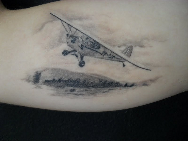 airplane tattoo images designs. Black Bedroom Furniture Sets. Home Design Ideas