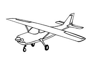Outline Airplane Tattoo Design