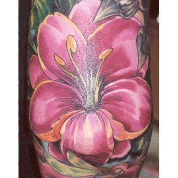 Modern Flower Tattoo