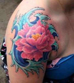 Wonderful Floral Tattoo