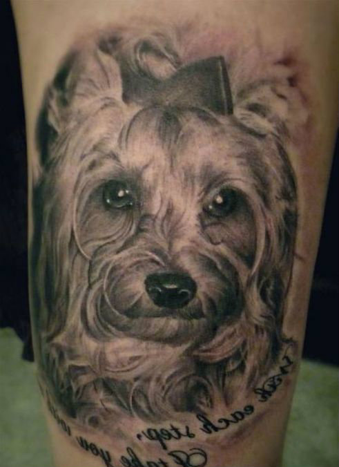 dog tattoo images designs. Black Bedroom Furniture Sets. Home Design Ideas