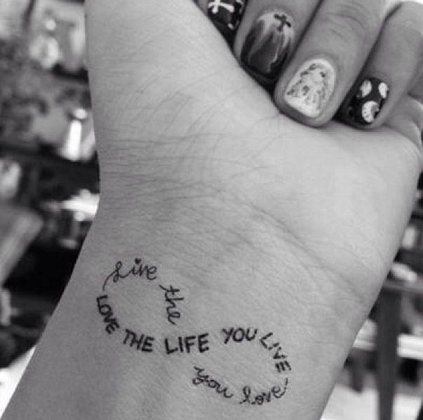 Amazing Black Ink Infinity Tattoo
