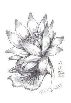 Grey ink lotus flower tattoo design amazing grey ink lotus flower tattoo design mightylinksfo