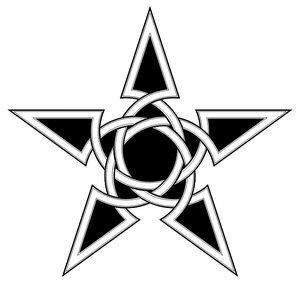black ink celtic star tattoo design. Black Bedroom Furniture Sets. Home Design Ideas