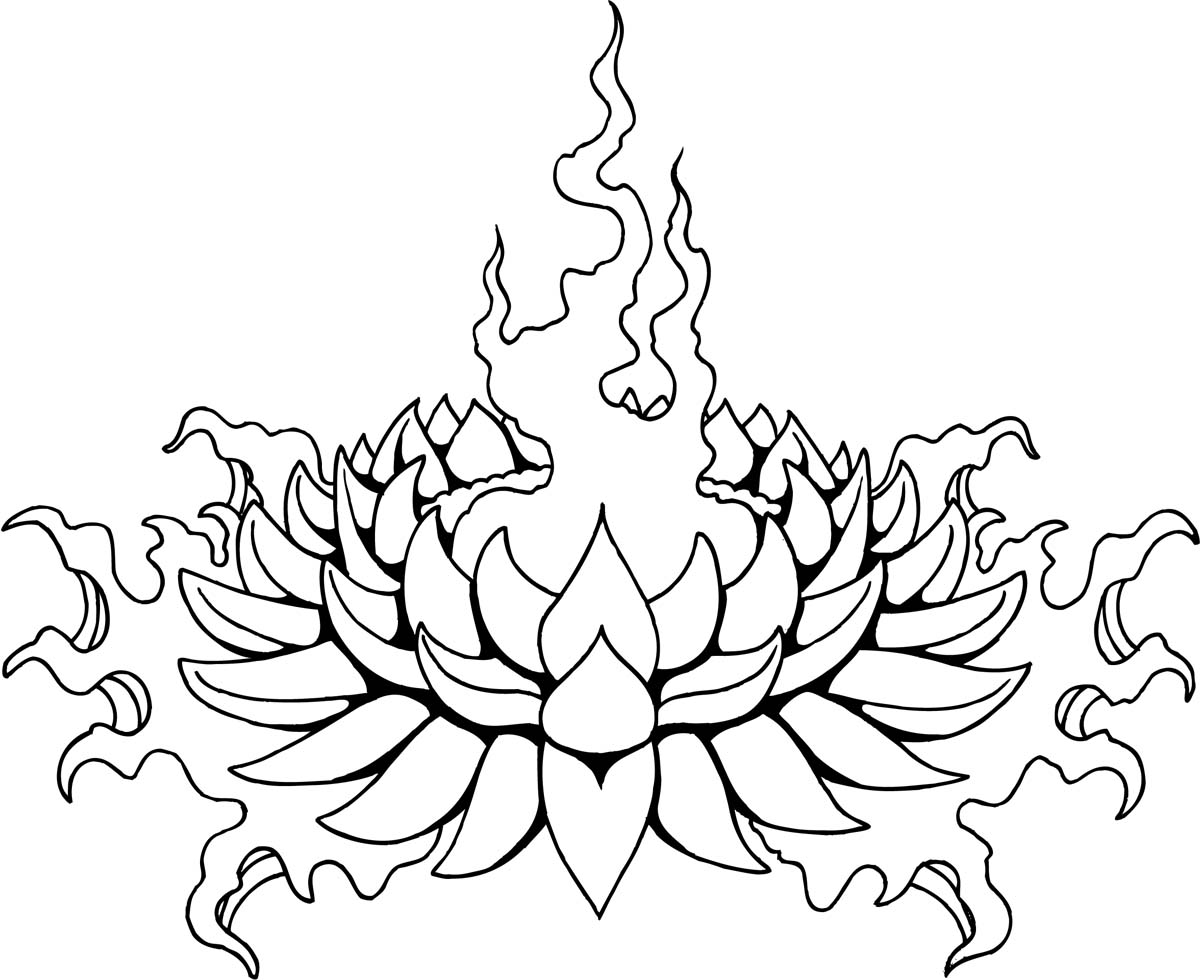 Cool outline lotus flower tattoo design mightylinksfo Gallery