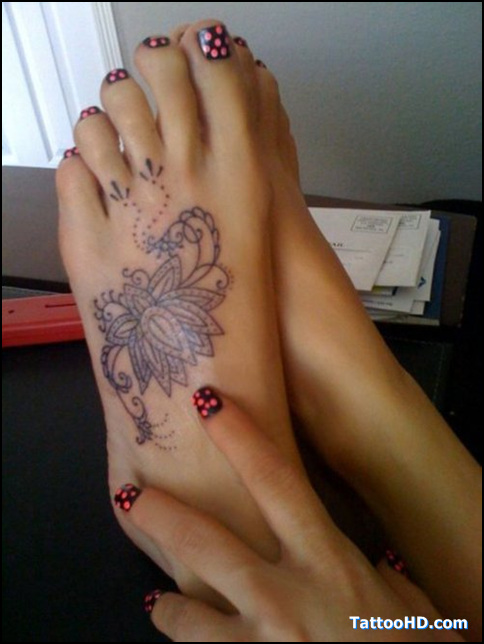 Lotus Foot Tattoos