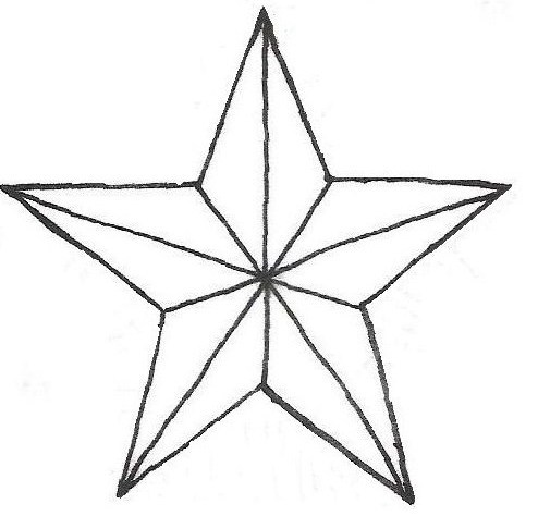 outline nautical star tattoo design. Black Bedroom Furniture Sets. Home Design Ideas