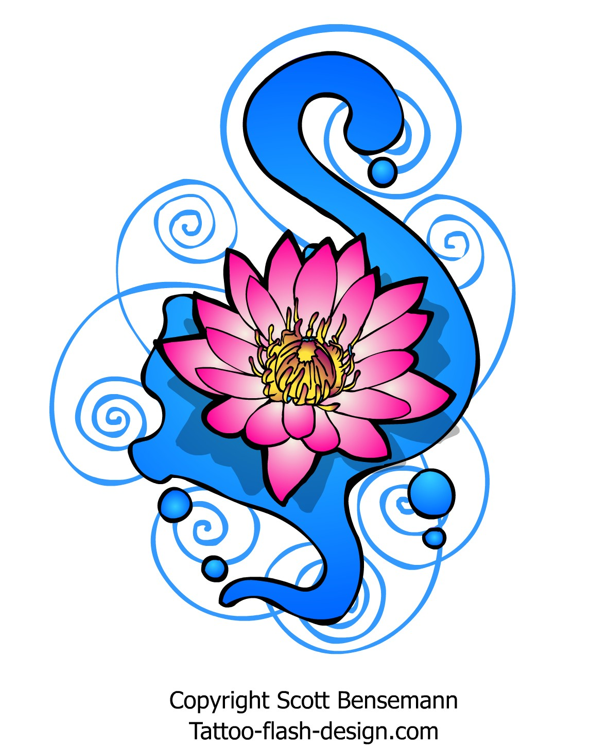 Pink tribal lotus flower tattoo design pink lotus flower tattoo design izmirmasajfo