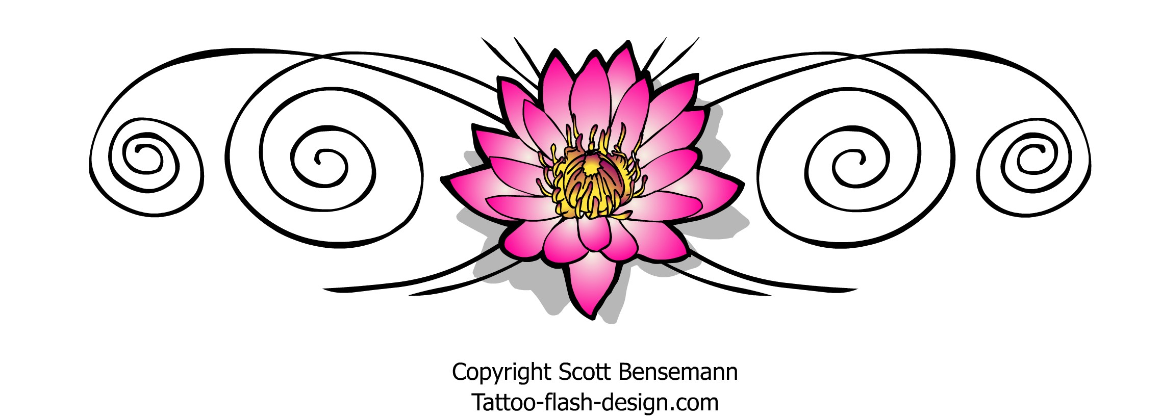 Pink tribal lotus flower tattoo design pink lotus flower tattoos design izmirmasajfo