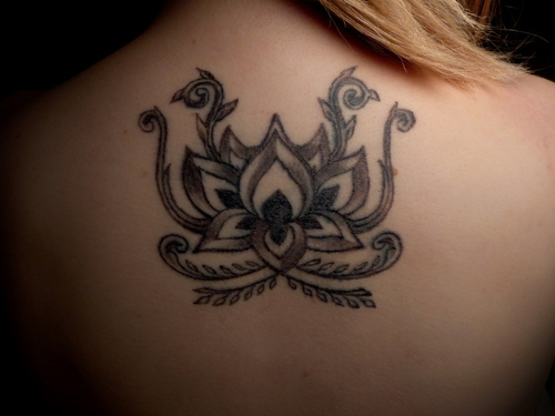 Lotus tattoo images designs for Cross tattoo on forehead meaning