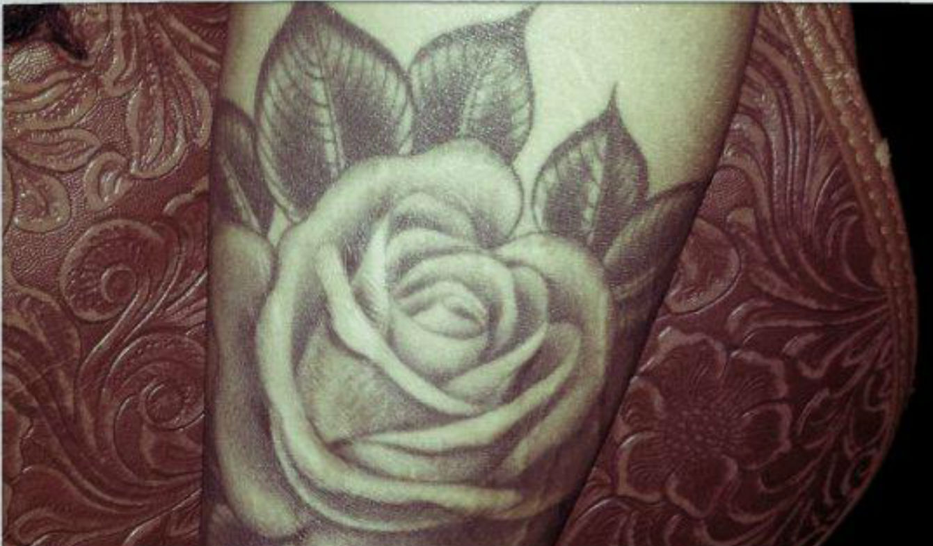 White Rose Tattoo On Shoulder