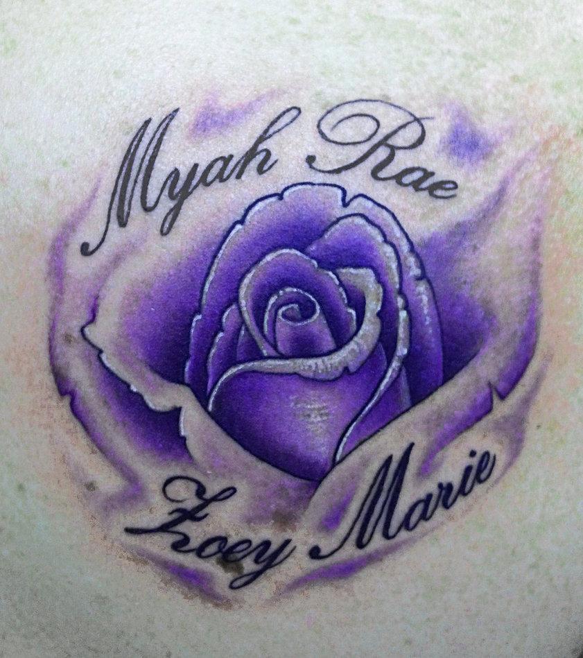 Blue Rose Tattoo Picture