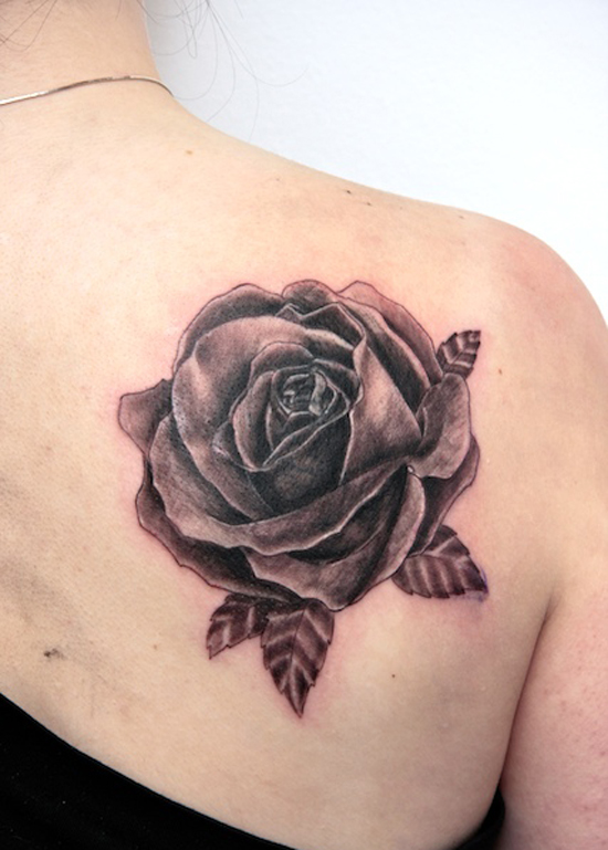 Rose tattoo images designs for Cool rose tattoos