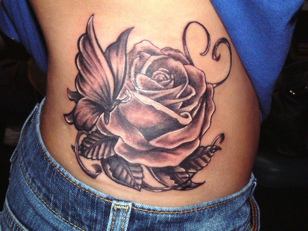 Tattoo rose vine designs