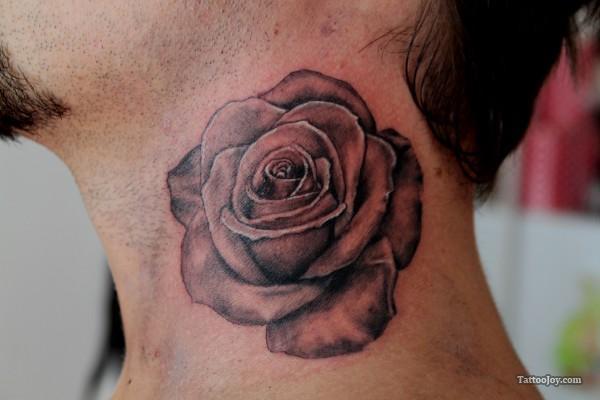 Rose Neck Tattoo