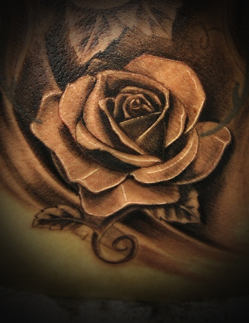 Traditional rose black and grey