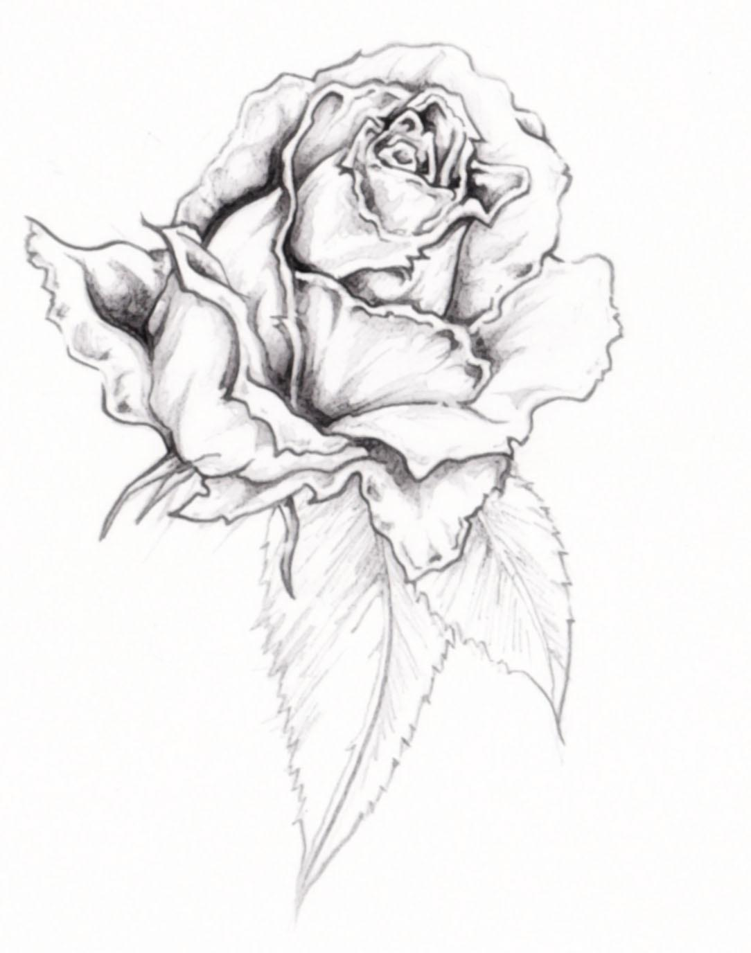 White Ink Rose Tattoo