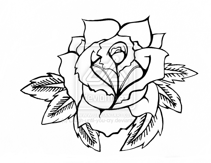 Gallery For gt American Traditional Rose Outline