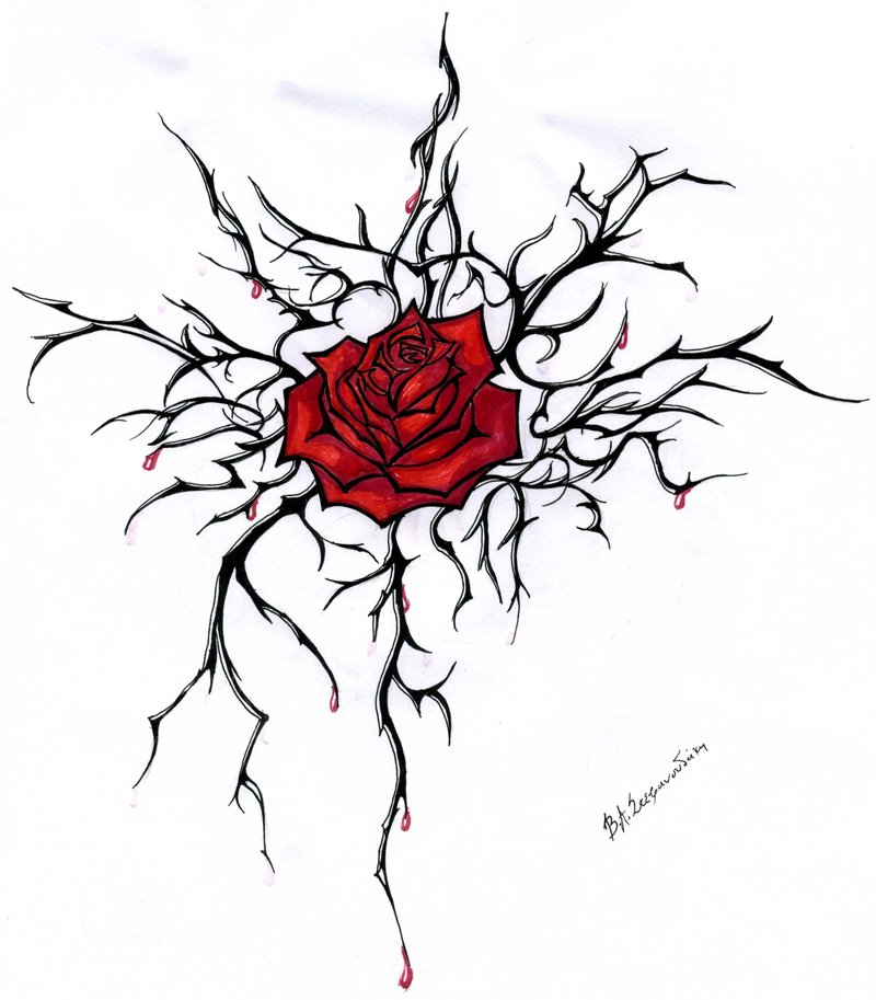 Simple Black And White Tattoo Designs Simple Red Rose Tattoo Design