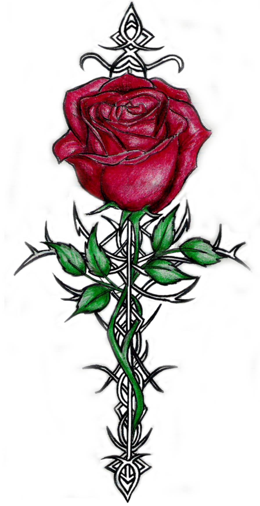 rose tattoos page 39. Black Bedroom Furniture Sets. Home Design Ideas