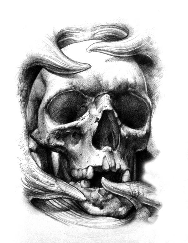 3d skull tattoos design. Black Bedroom Furniture Sets. Home Design Ideas