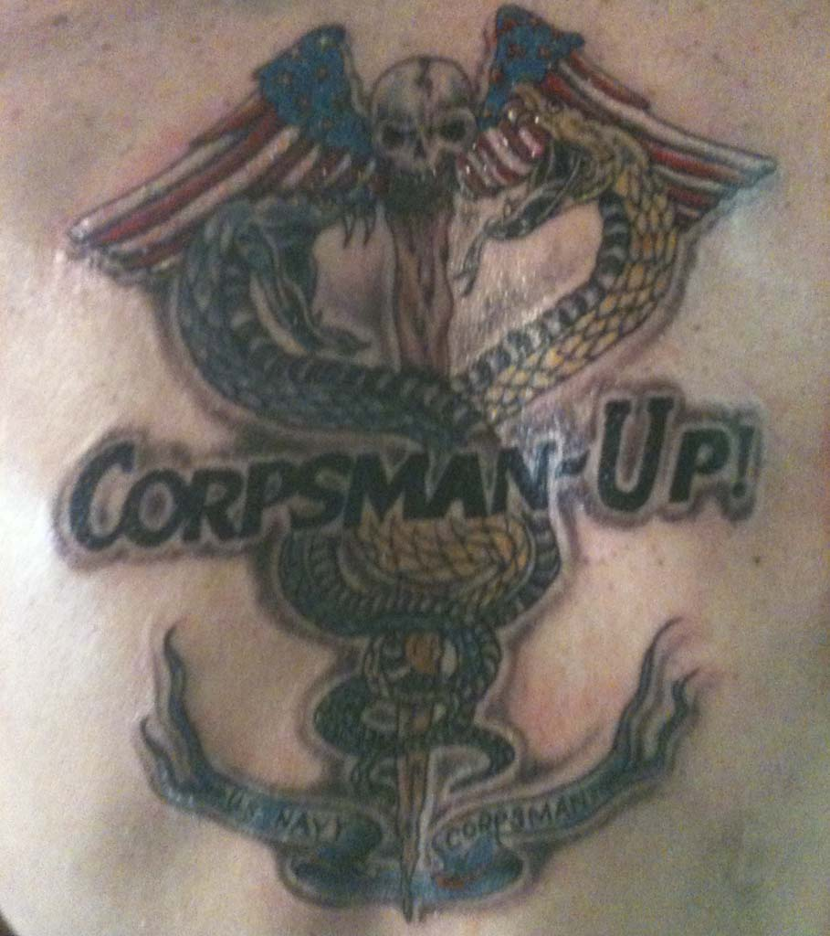 Navy corpsman tattoo