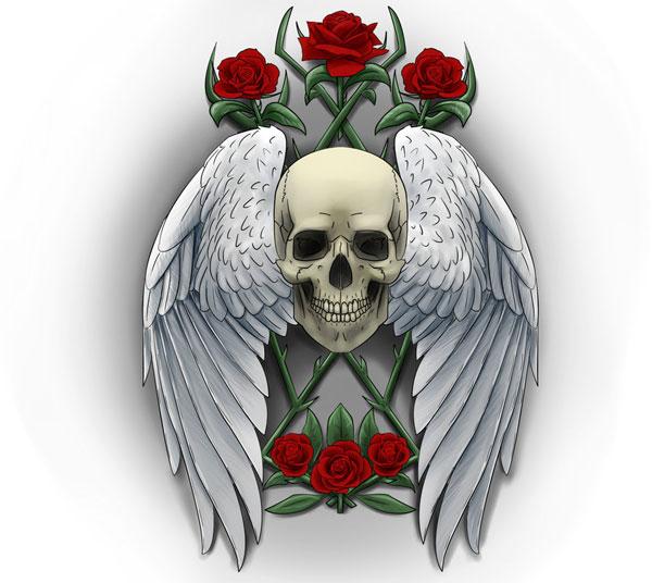 Angel Sugar Skull Tattoo | www.imgkid.com - The Image Kid ...