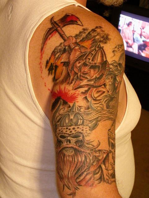 Viking tattoos page 39 for Viking sleeve tattoos