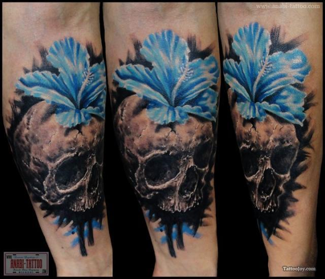 Blue Skull Tattoo