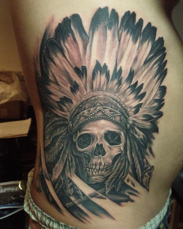 Traditional Indian Skull Tattoo