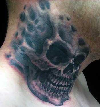 Skull tattoos page 46 for Skull neck tattoos