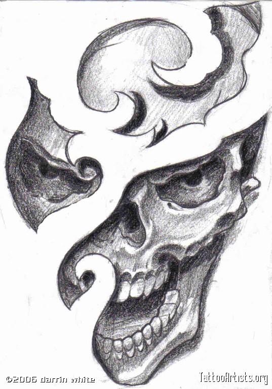 Black Skull Tattoo Design Ink Skull Tattoo Design