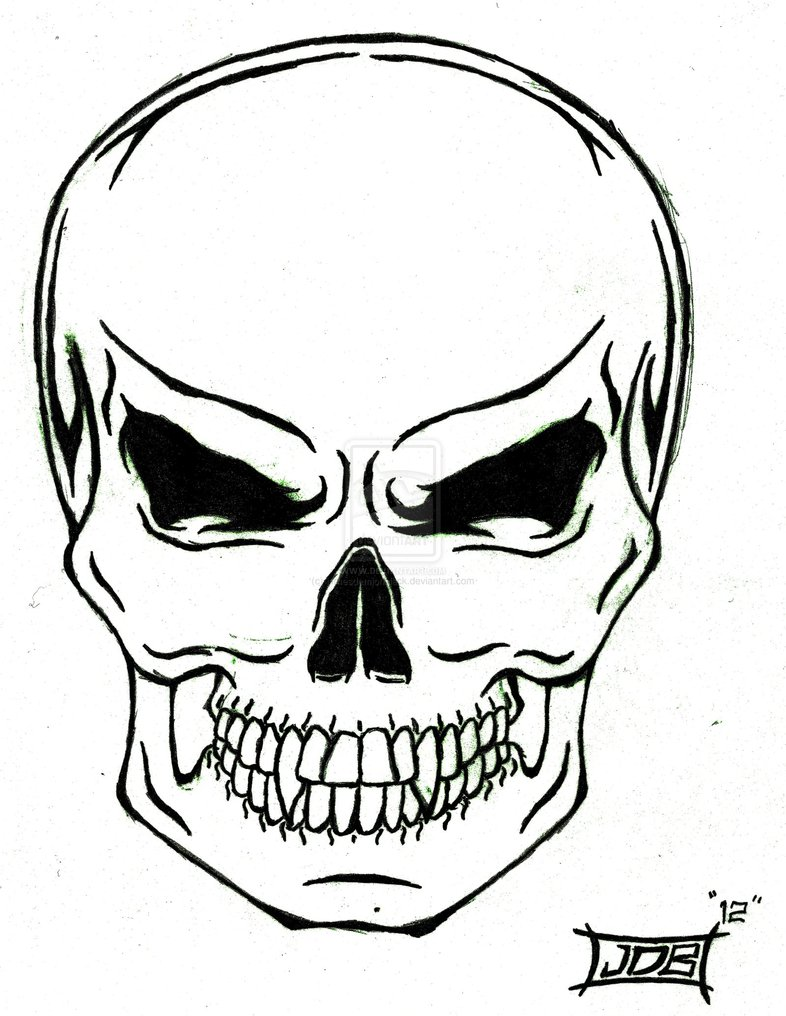 Skull-A-Day 4.0 - Tutorial - #23 Sugar Skull Make-up |Skull Outline Drawings