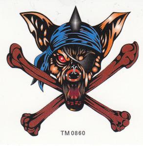 Pirate Wolf Skull Tattoo Design