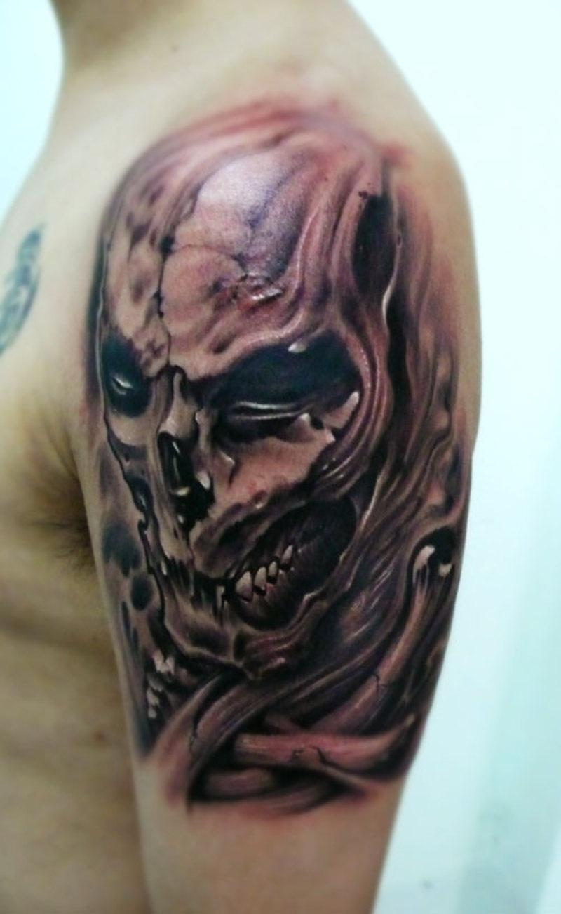 Half Watercolor Lion Tattoo  Best Tattoo Ideas Gallery