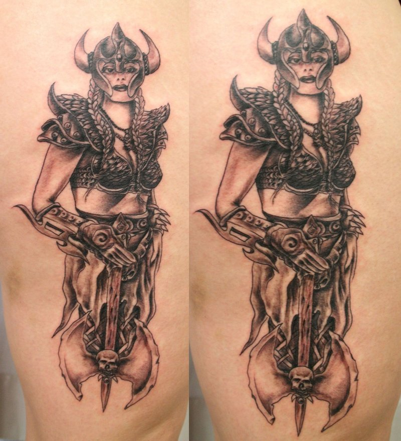 Viking Woman Tattoo