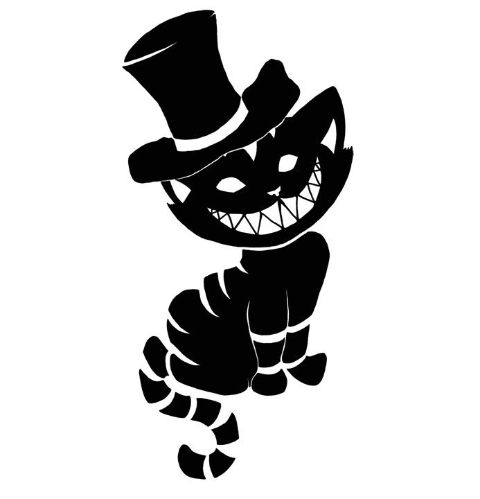 Classic Black Cat Tattoo Design