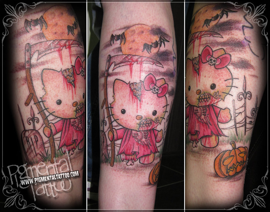 Kitty tattoo images designs for Hello kitty tattoo sleeve