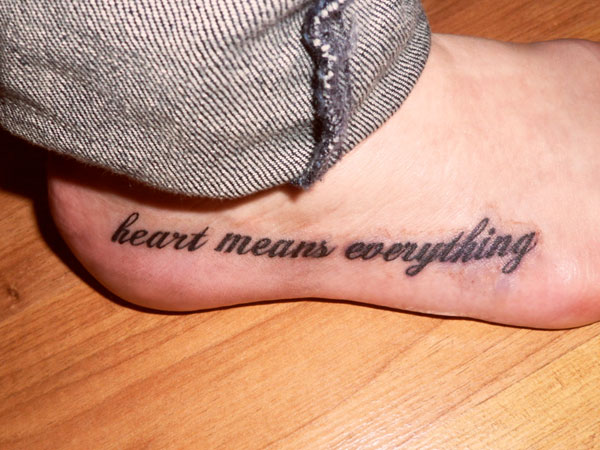 tattoo quotes for girls on foot - photo #22