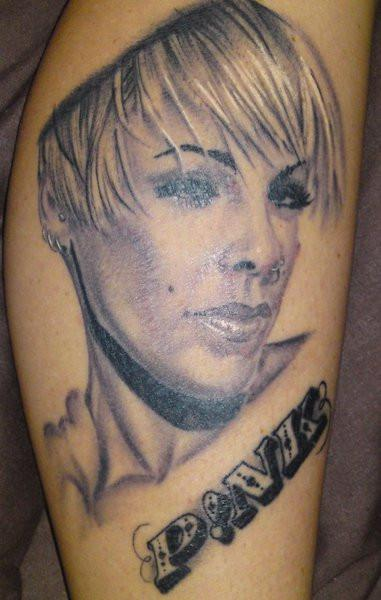 Portrait tattoo images designs for Pink ink tattoo