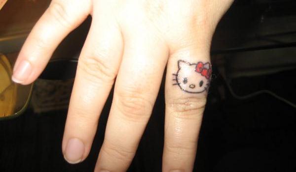 Hello Kitty Head Coloring Pages : Hello kitty head tattoo on heel