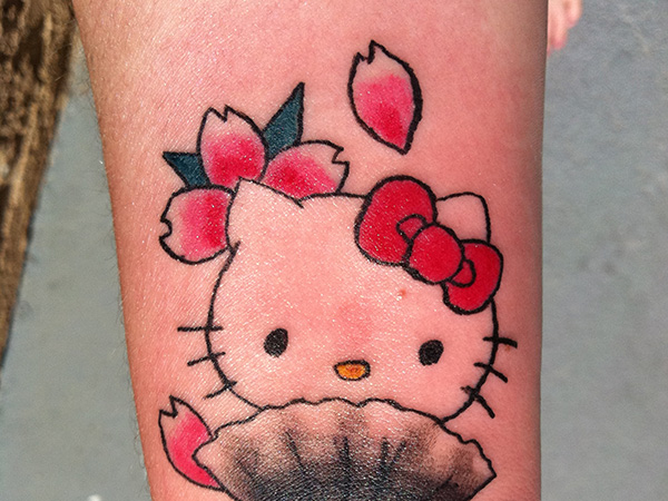 Hello Kitty Bow Tattoo Foot Hello Kitty With Red Bow