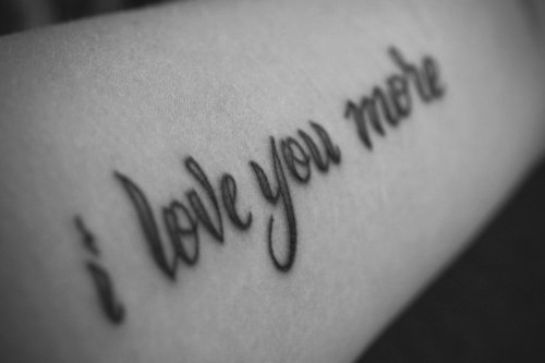 We Found Love Quote Tattoo