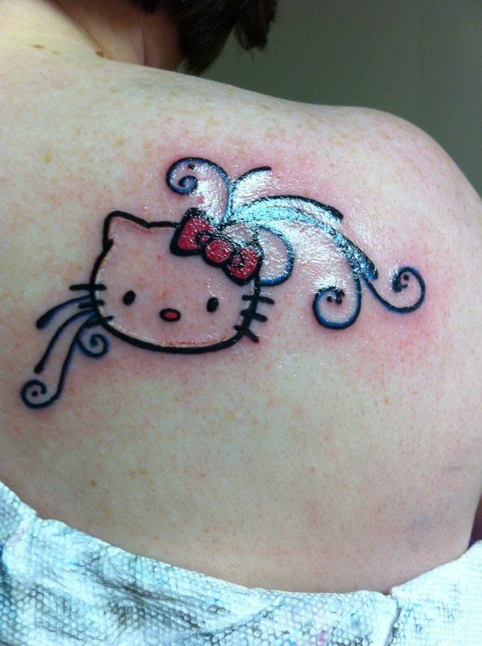 Hello Kitty Bow Tattoo Foot The gallery for -->...